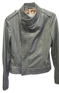 Kenna-T gray Leather Jacket