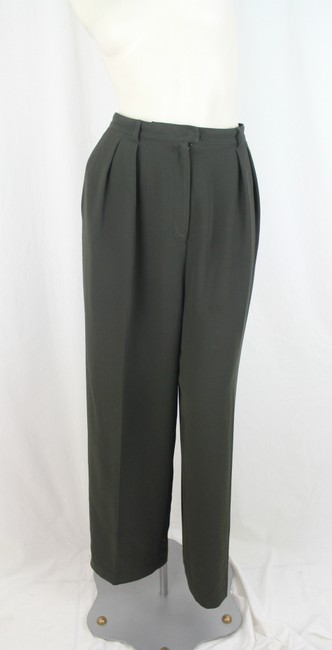 Jones Wear Jones Wear Olive Green Pantsuit- Pants Size 14- Jacket Size 12