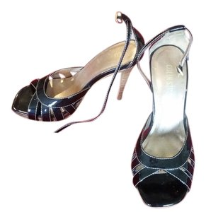 Colin Stuart Stiletto Leather black patent Sandals