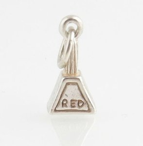 Bottle Of Red Nail Polish Charm - Sterling Silver Pendant 925 Women Pendant