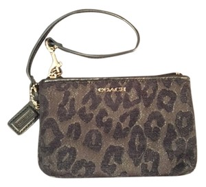 Coach Wristlet in Black Ocelot