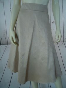 Banana Republic Silk Geometric Print Side Zip Lined So Chic Skirt Gold
