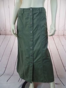 Other Ralph Lauren Petite 6p Front Long Military Chic Skirt Army Green
