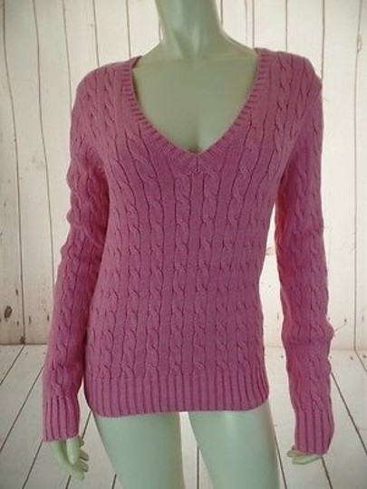 41243ac5 Tommy Hilfiger Sweater Pink Cotton Cable Knit Pullover Heavy Warm Chic  #13677022 - Sweaters &