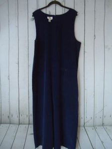 Talbots short dress Dusty Blue Jumper Cotton Lycra Fine Wale Corduroy Long Shift on Tradesy