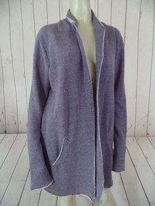 Alternative Apparel Alternative Earth Blazer Duster Open Front Purple Heather Cotton Poly Mix Boho