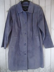 Centigrade Suede Leather 1x Button Front Lined Pockets Classy Coat