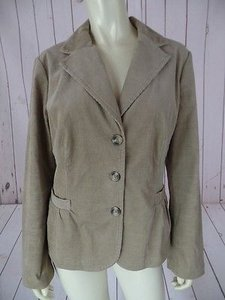 J.Crew J Crew Blazer Brown Cotton Spandex Stretch Blend Thin Wale Corduroy Chic