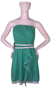 Express short dress Green Tube Belted on Tradesy