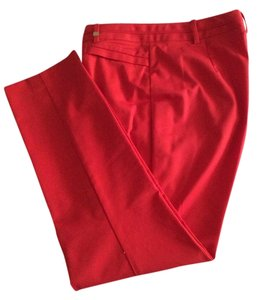 Calvin Klein Skinny Pants Red