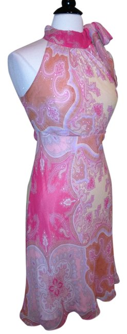 Banana Republic short dress Pink Silk Size 0 on Tradesy