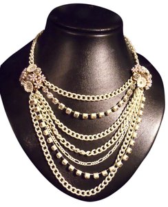 Betsey Johnson multi chain with rhinestone