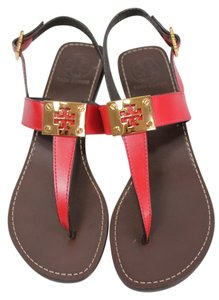 Tory Burch Wedges Red Sandals