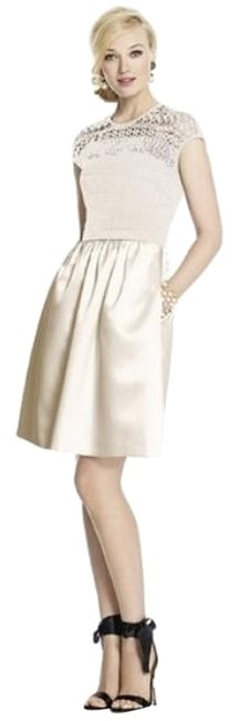 Item - Ivory 5713 Mid-length Night Out Dress Size 8 (M)