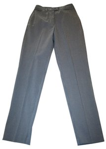 Esprit B&w Slacks Straight Pants Grey & white checked