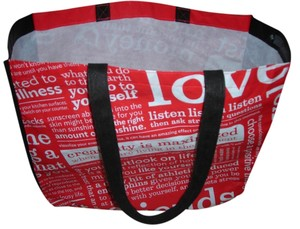 Lululemon Lulelemon Workout Tote in red / white
