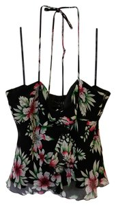 Laundry by Shelli Segal Black, Green, Rose and White Halter Top