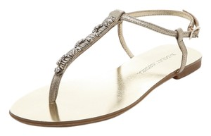 Badgley Mischka Distressed Gold Flats