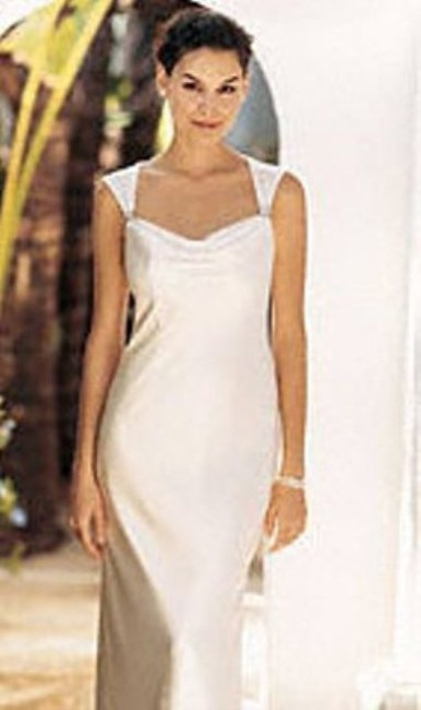 Item - Ivory Silk Charmeuse Galina Gu8247 Destination Wedding Dress Size 2 (XS)