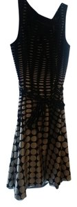 Dana Buchman short dress Black and White Polka Dots on Tradesy