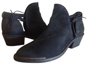 Free People Suede Leather Southern Cross Black Boots