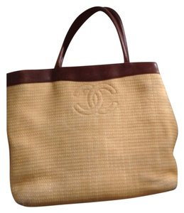 Chanel Tote in Brown With Beige