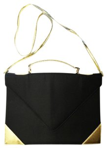 La Regale Satchel in Black & Gold