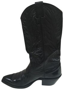 Nocona Cowboy Leather Black Boots