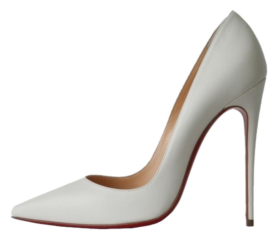 new arrival d97b3 27abf Christian Louboutin White So Kate 120 Kid Leather Pumps Size US 11