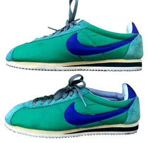 Nike Cortez Green and Blue Athletic