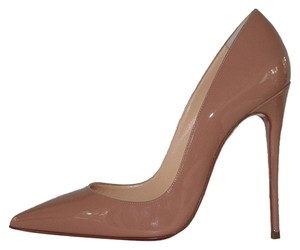 Christian Louboutin Nude So Kate Patent Leather Pink Pumps