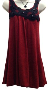 Carolina Wiliamson short dress Red Bubble Sweater Knit on Tradesy