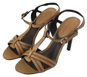 Burberry Ulster Leather Brown Umber Sandals