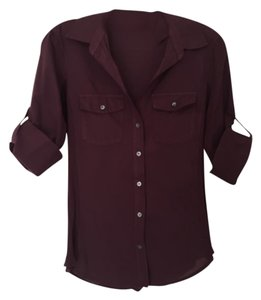 James Perse Button Down Shirt Pure Raisin
