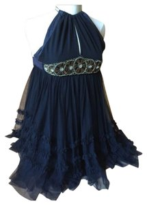 Free People Beaded Tulle Crisscross Strap Prom Dress
