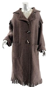 Romeo Gigli Fleece Horn Buttons Trench Coat