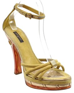 Louis Vuitton Yellow, Gold Platforms