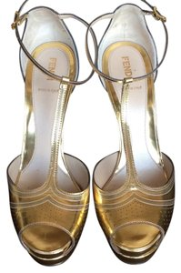 Fendi Ancient Gold Platforms