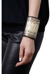 Condemned to Be Free Glazed Python Snakeskin Wide Cuff
