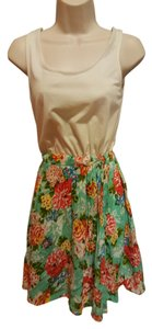 Xhilaration short dress White Floral on Tradesy