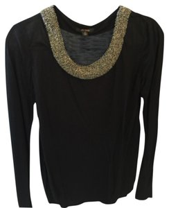 Ella Moss Jeweled Chic T Shirt Blac