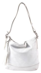 Coach Leather Silvertone Hardware Shoulder Bag