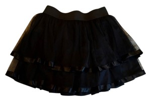 Forever 21 Tulle Ribbon Ballerina Mini Skirt black