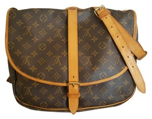 Louis Vuitton Neverfull Delightful Monogram Saumur Brown Messenger Bag