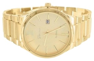 Geneva 14k Gold Tone Watch Ladies Geneva Platinum Stainless Steel Case 43mm Bezel
