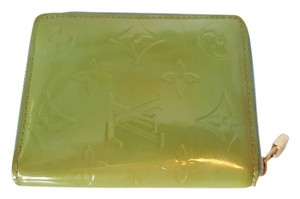 Louis Vuitton 100% Authentic Louis Vuitton Green Vernis Broome Compact Zippy Wallet with Coin Purse
