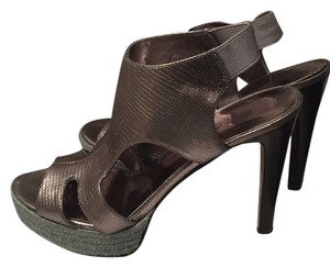 Nine West Pewter silver Platforms