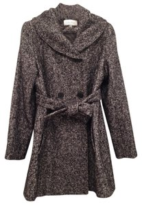 Calvin Klein Tweed Double-breasted Belted Advertising Campaign Pea Coat
