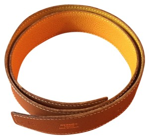 Herms Herms Reversible Leather Strap for H Belt
