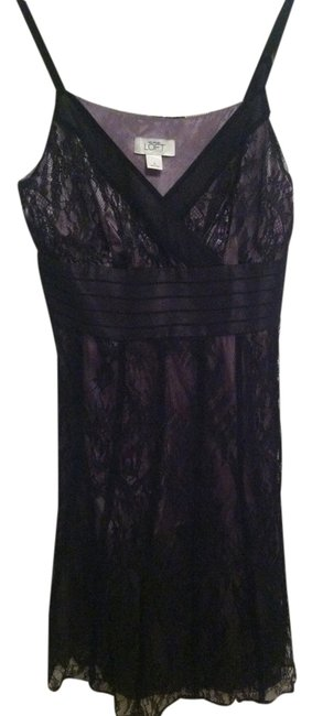 Ann Taylor LOFT Tie Wedding Guest Lace Formal Flared Skirt Dress